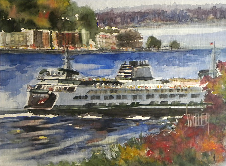 Ferry Painting - Fresh Air Crossing by Lola Waller