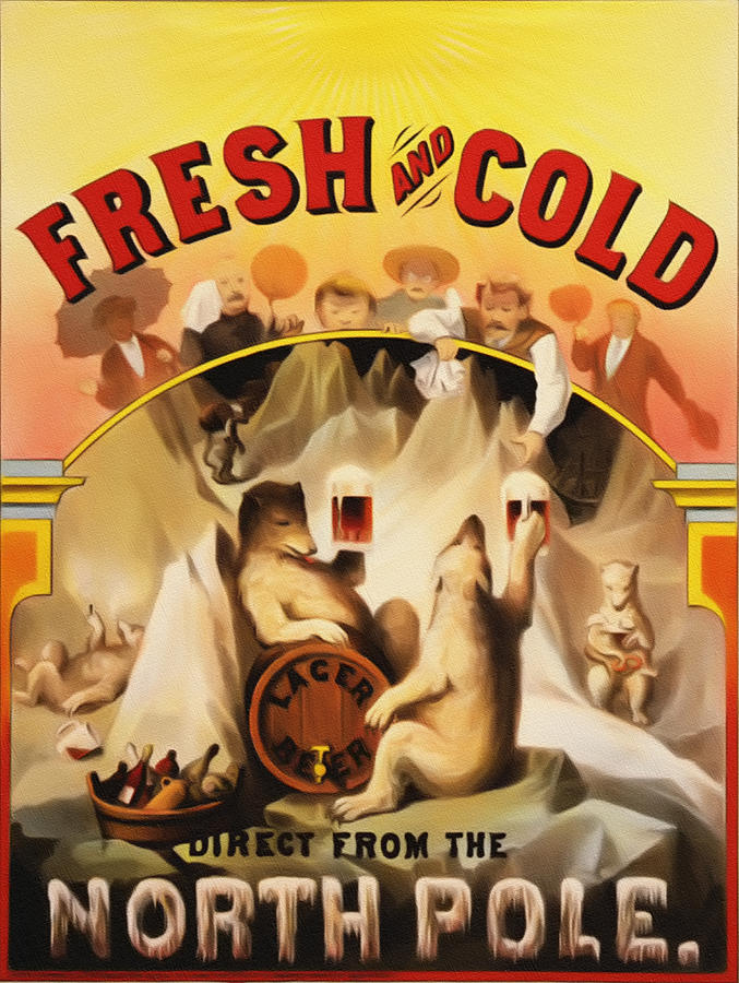 Fresh Painting - Fresh And Cold Direct From The North Pole by Bill Cannon