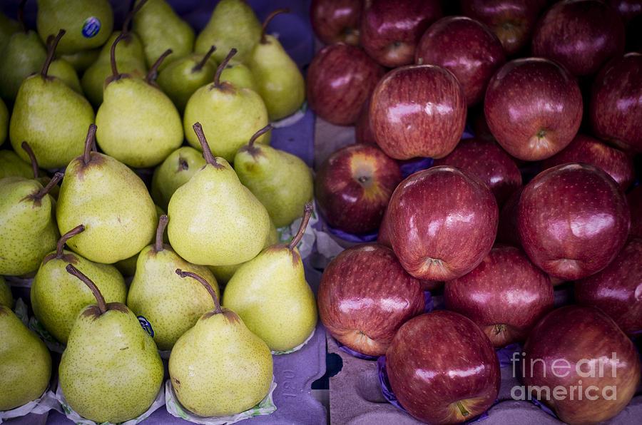 Apple Photograph - Fresh Apples And Pears On A Street Fair In Brazil by Ricardo Lisboa