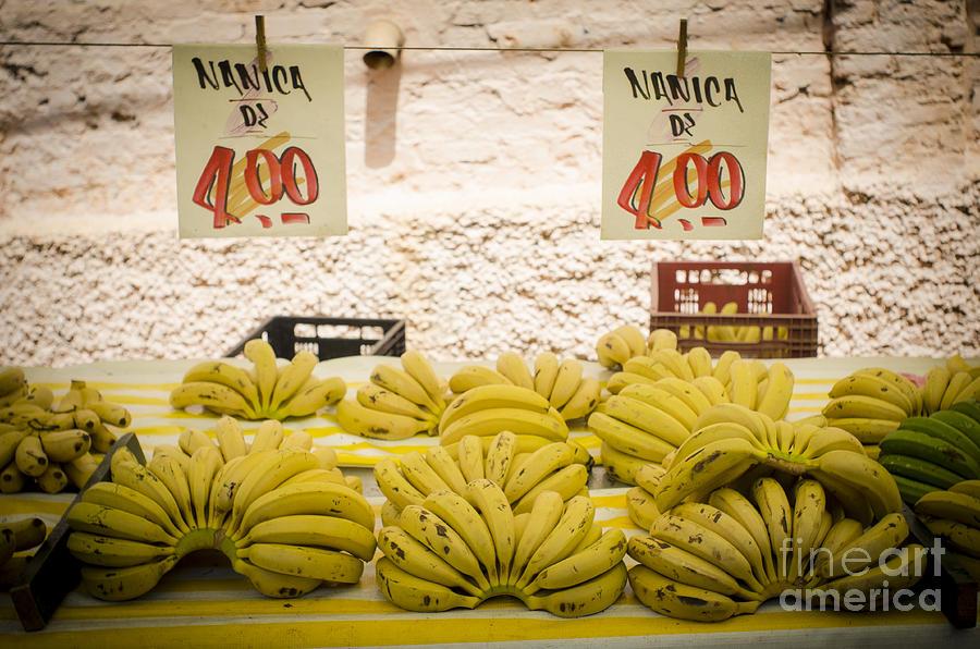 Banana Photograph - Fresh Bananas On A Street Fair In Brazil by Ricardo Lisboa