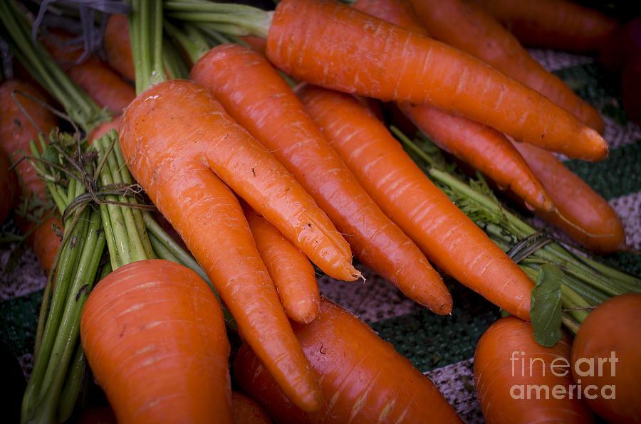 Carrot Photograph - Fresh Carrots On A Street Fair In Brazil by Ricardo Lisboa