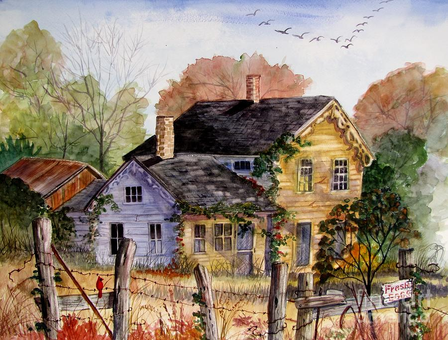 Farmhouse Painting - Fresh Eggs For Sale by Marilyn Smith