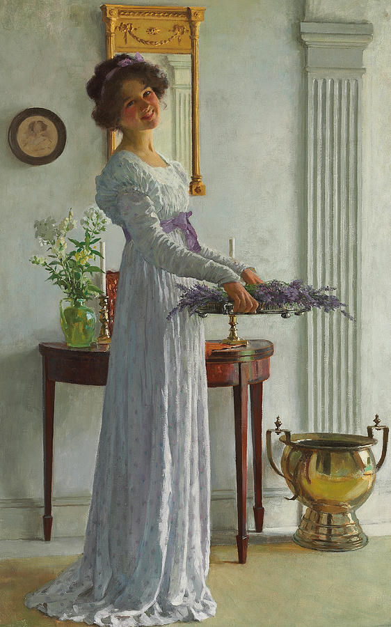 Lavender Painting - Fresh Lavender by William Henry Margetson