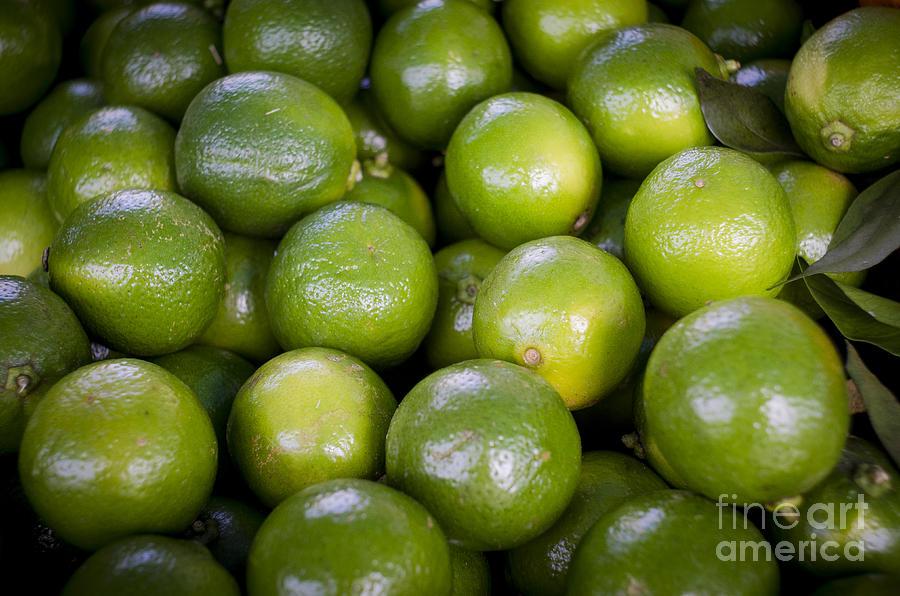 Lemon Photograph - Fresh Limes On A Street Fair In Brazil by Ricardo Lisboa
