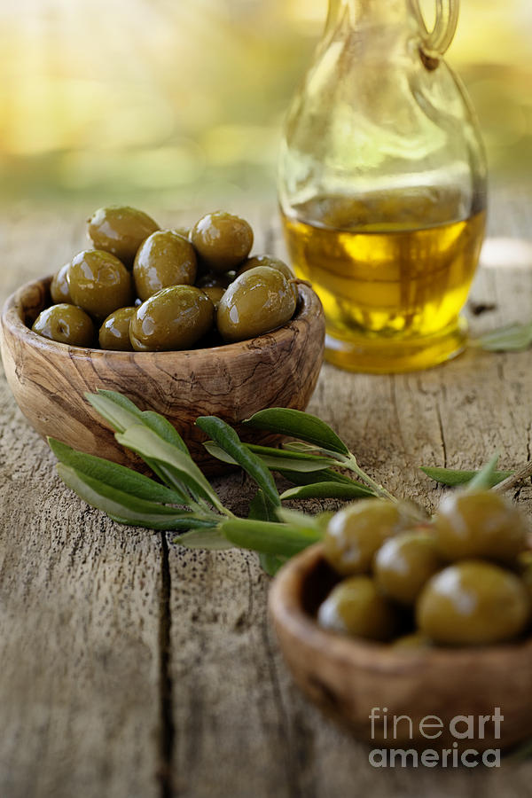Aroma Photograph - Fresh Olives by Mythja  Photography