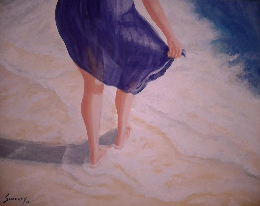 Beach Painting - Fresh Steps by Dan Sweeney