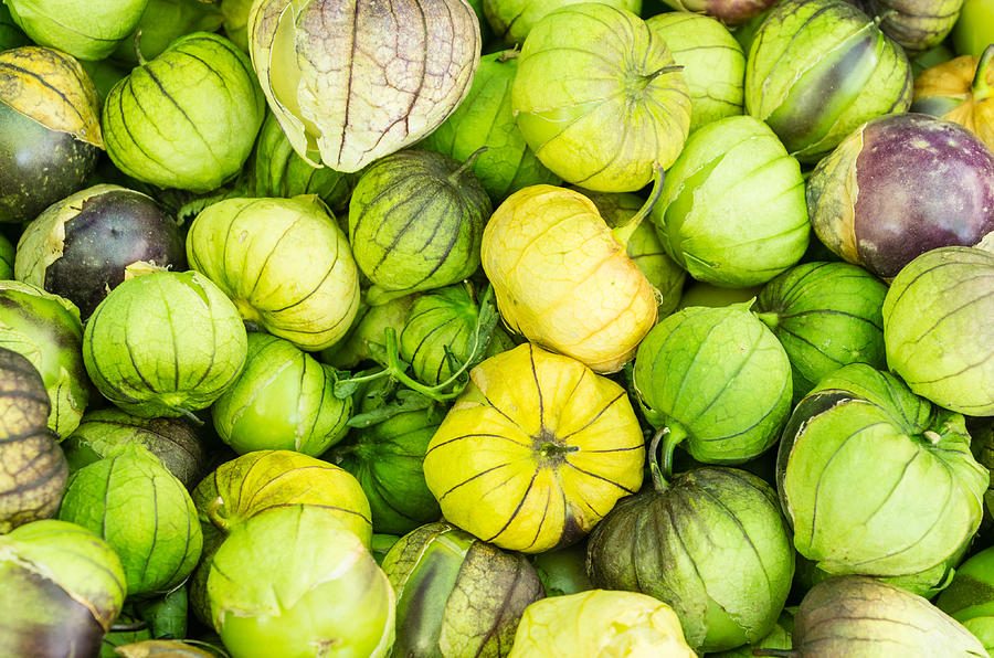 Agriculture Photograph - Fresh Tomatillos by John Trax