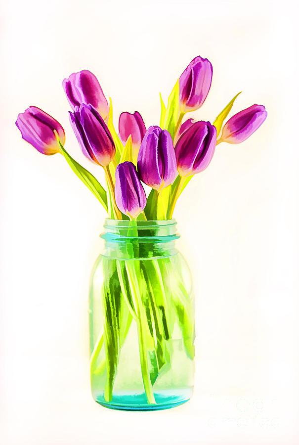 Arrangement Photograph - Fresh Tulips by Darren Fisher