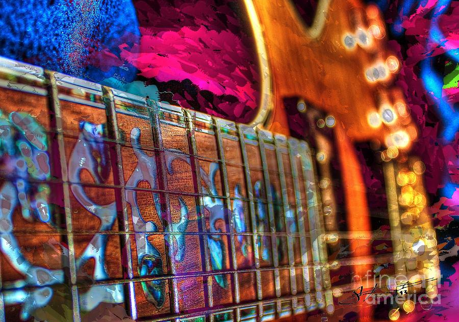 Guitar Photograph - Fret Work Digital Guitar Art By Steven Langston by Steven Lebron Langston