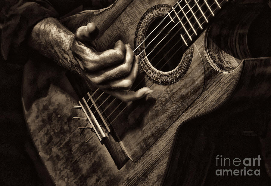 Guitar Photograph - Fretwork by Clare VanderVeen