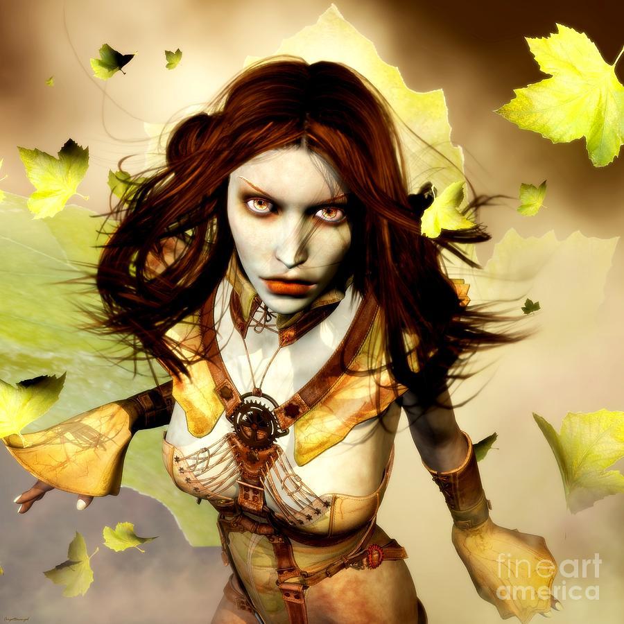 Freya Digital Art - Freya by Gabor Gabriel Magyar - Forgottenangel