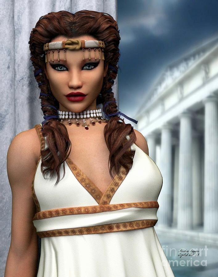 Freya Digital Art - Freya by Sandra Bauser Digital Art