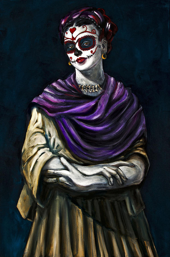 Frida Kahlo Day Of The Dead Painting By Jennifer Cahoon
