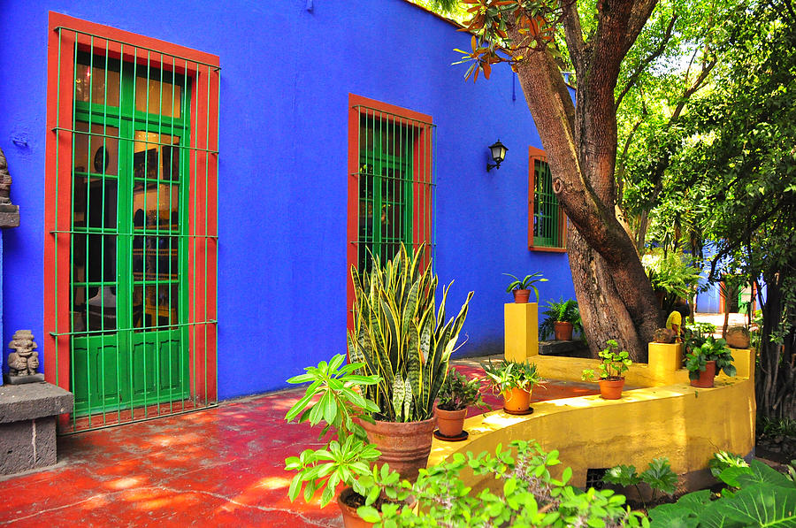 Frida Kahlo House Mexico City Photograph By Rod Waddington