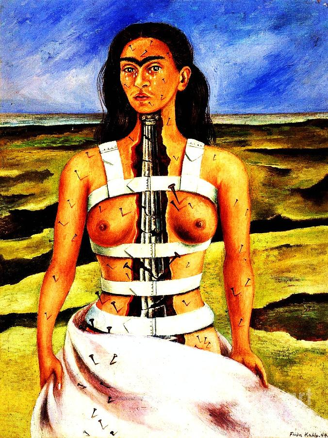 Frida Kahlo Paintings Painting - Frida Kahlo The Broken Column by Pg Reproductions