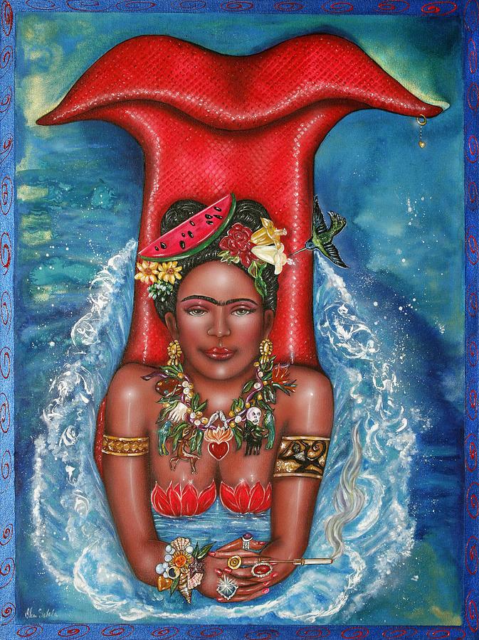 Frida Painting - Frida Makes A Splash by Ilene Satala