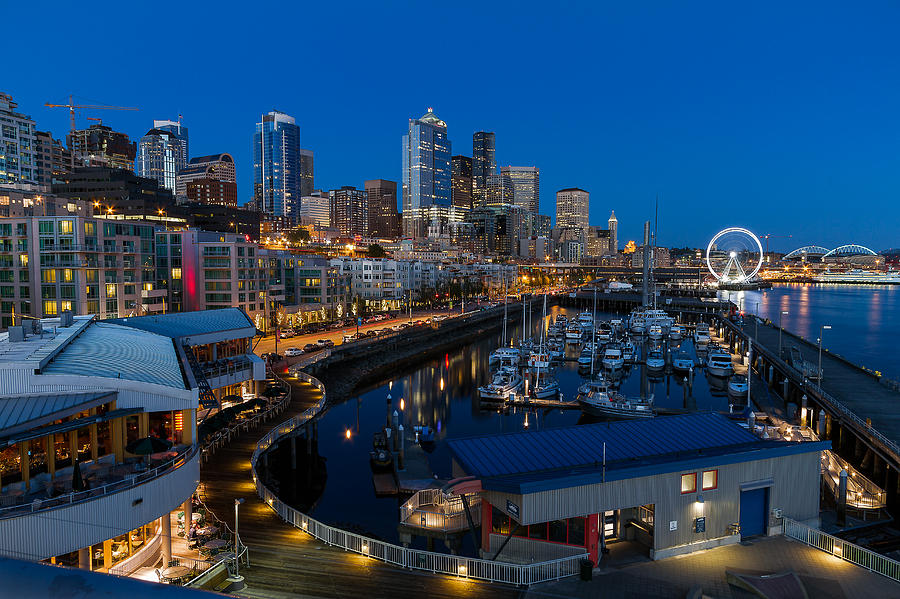 Seattle Photograph - Friday Night In Seattle by Ken Stanback