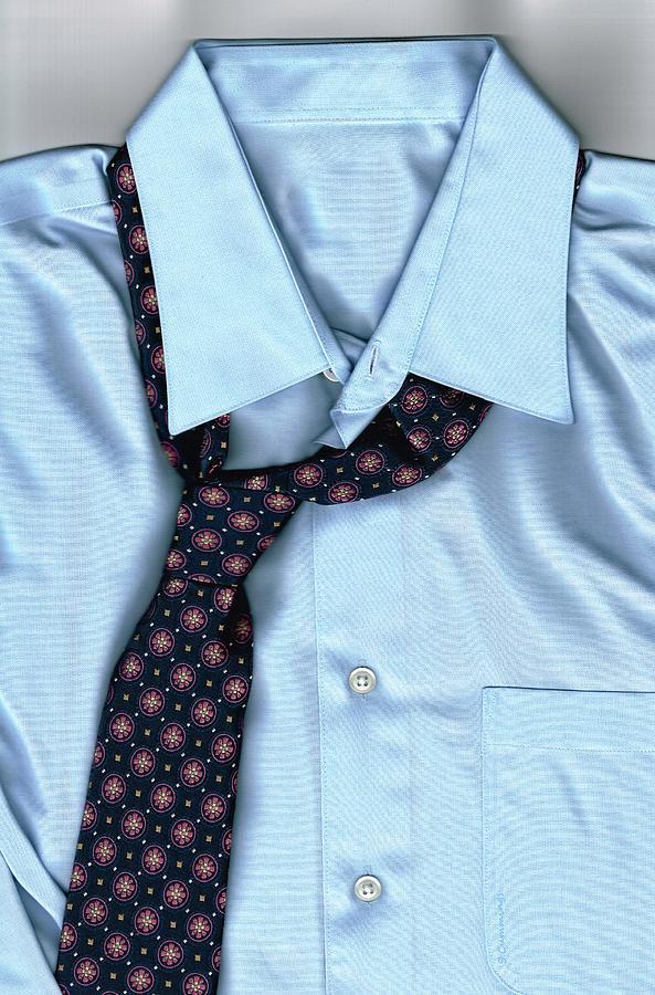 Tie Photograph - Friday Night - Mens Fashion Art By Sharon Cummings by Sharon Cummings