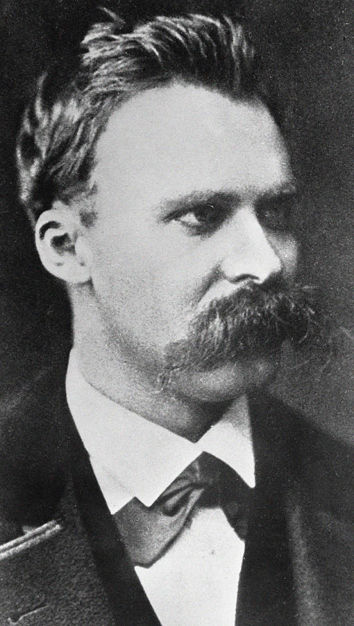 Mustache Photograph - Friedrich Wilhelm Nietzsche by French Photographer