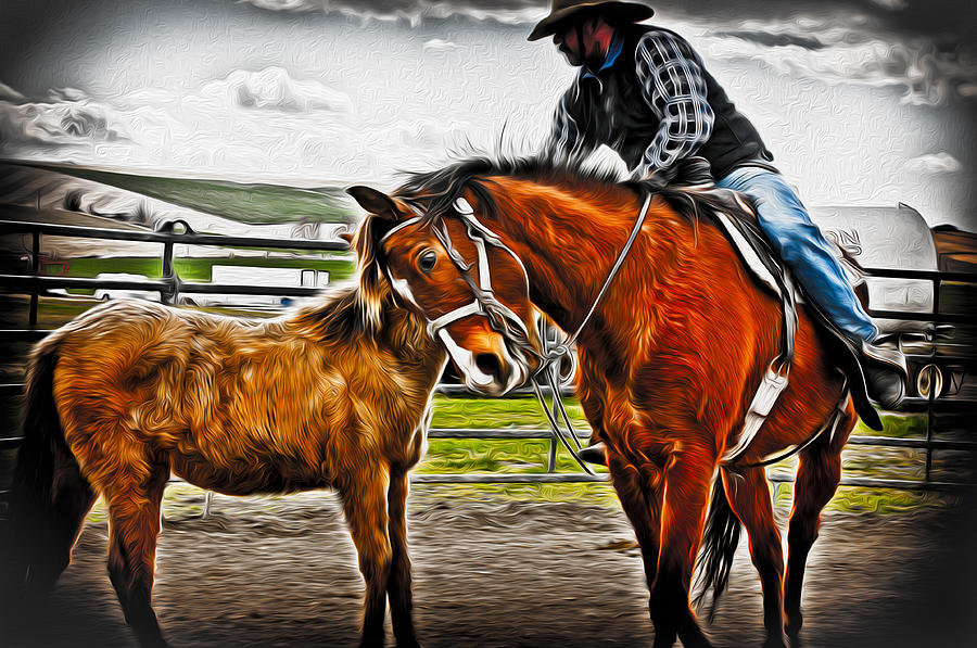 Horse Photograph - Friends by Denise Teague