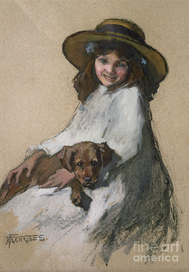 Female Painting - Friends by Elizabeth Adela Stanhope Forbes
