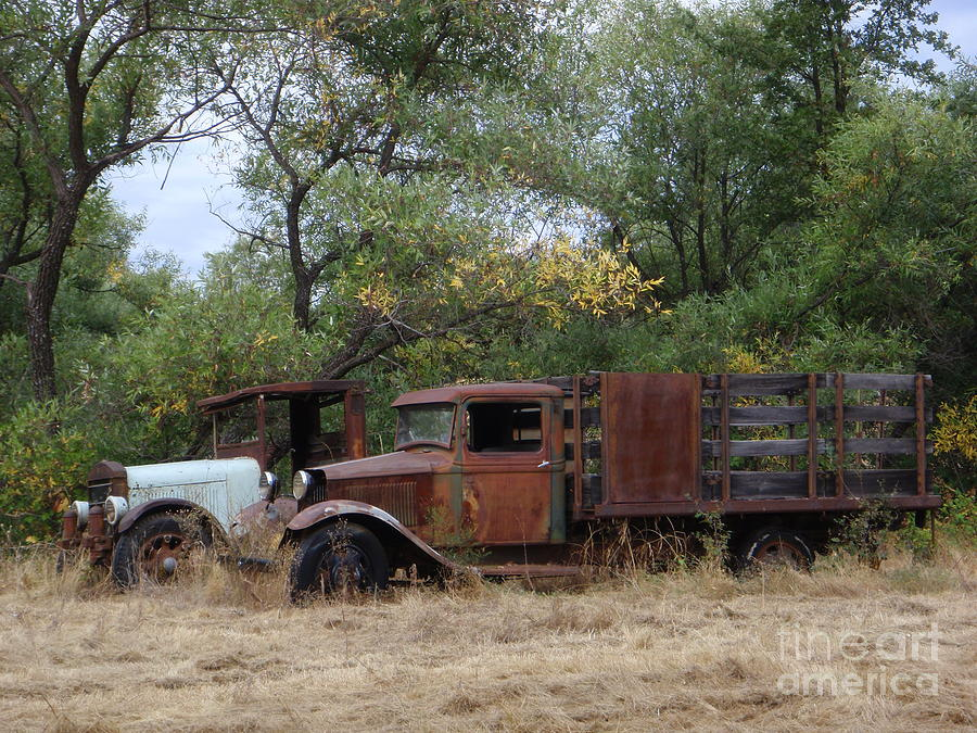 Trucks Photograph - Friends To The End by Mary Deal