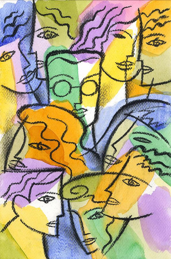 Friendship Painting by Leon Zernitsky