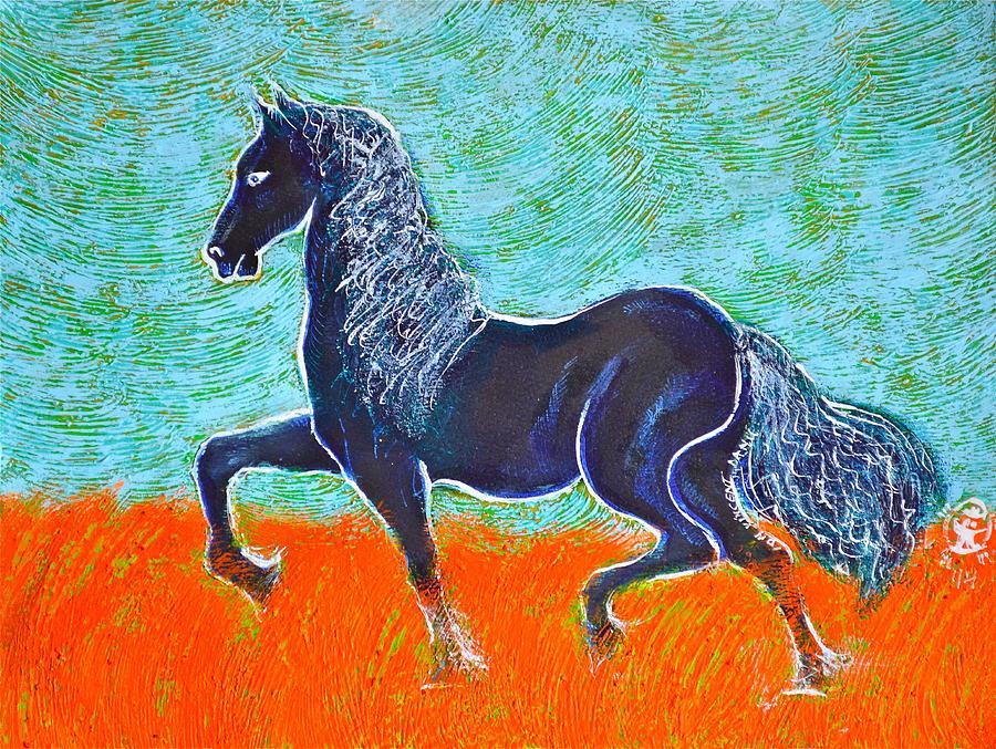 Friesian Horse Painting