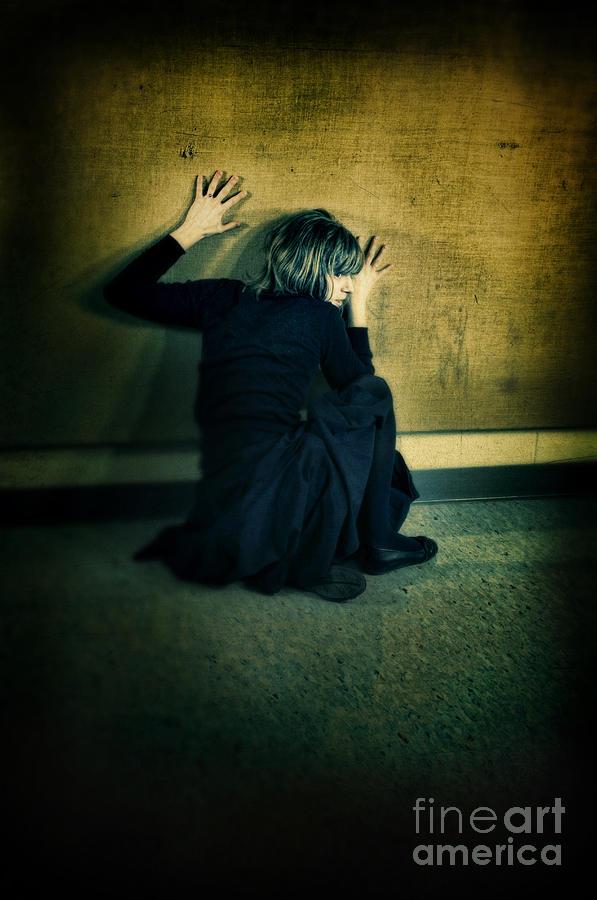 Woman Photograph - Frightened Woman by Jill Battaglia