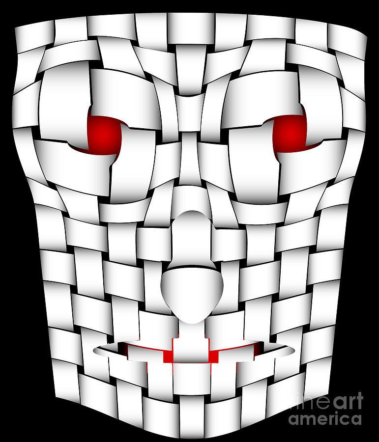 Halloween Digital Art - Frightening Mask by Michal Boubin