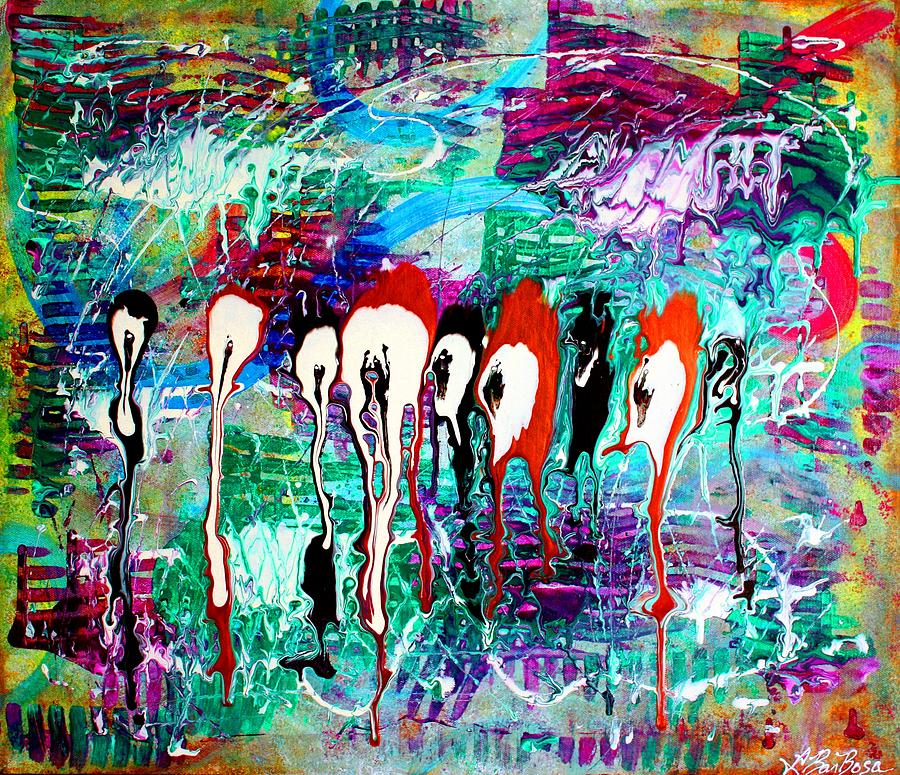 Abstract Painting - Fringe by Laura Barbosa