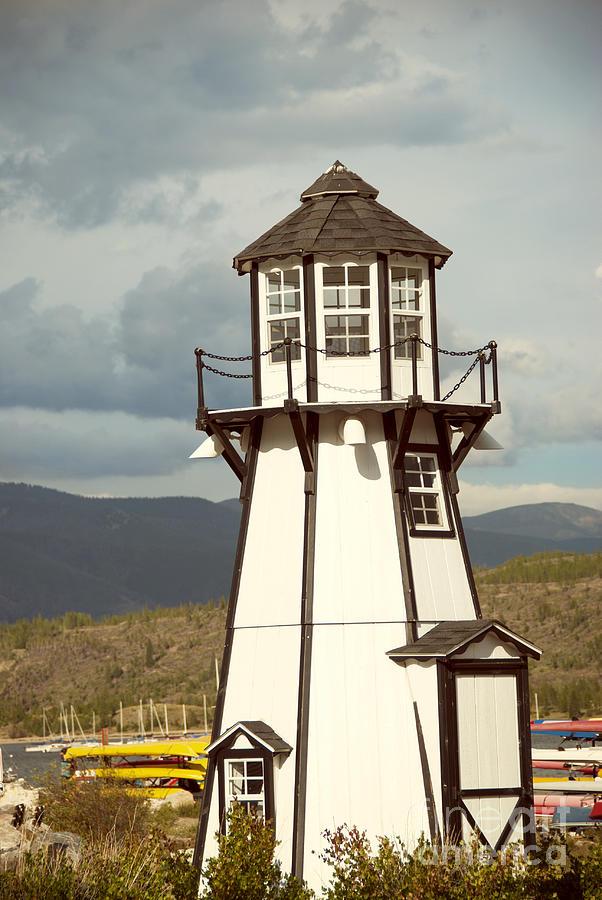 Architecture Photograph - Frisco Bay Marina Lighthouse by Juli Scalzi