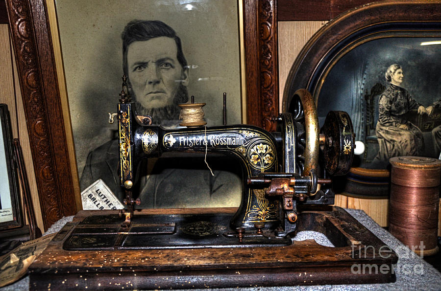 Hdr Photography Photograph - Frister And Rossmann - Old Sewing Machine by Kaye Menner