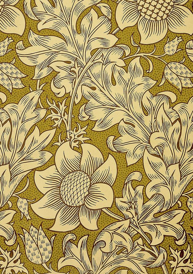 William Mixed Media - Fritillary Design 1885 by William Morris