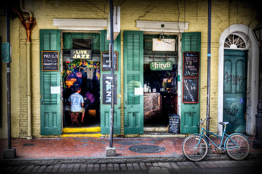 New Orleans Photograph - Fritzels Bar On Bourbon Street by Ray Devlin