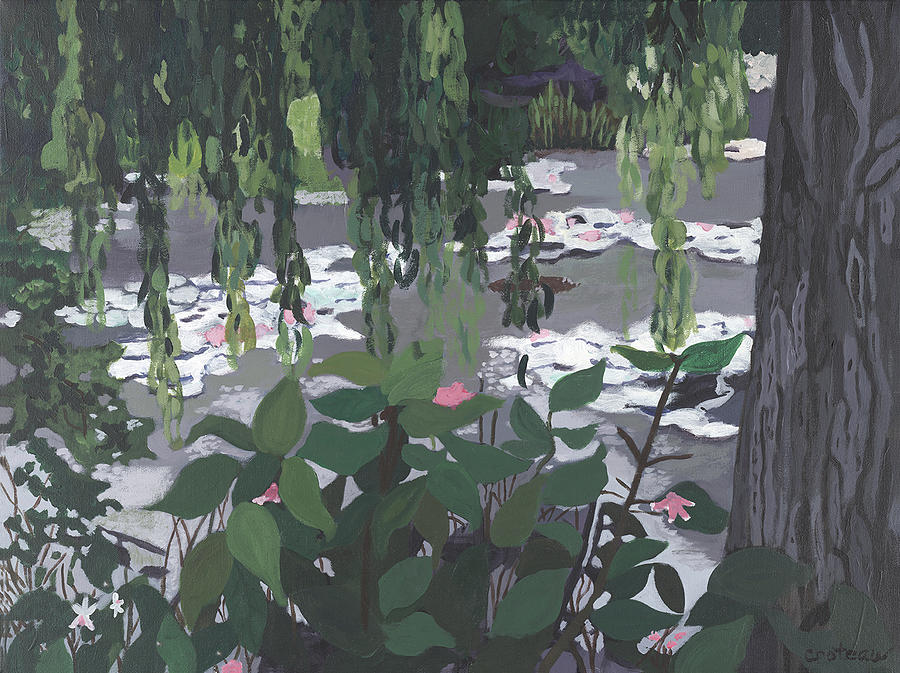 Pond Painting - Frog Heaven by Jane Croteau