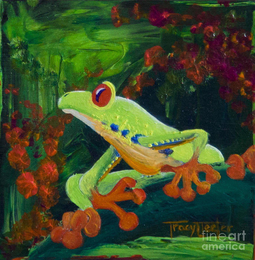 Tree Painting - Frog Heaven by Tracy L Teeter
