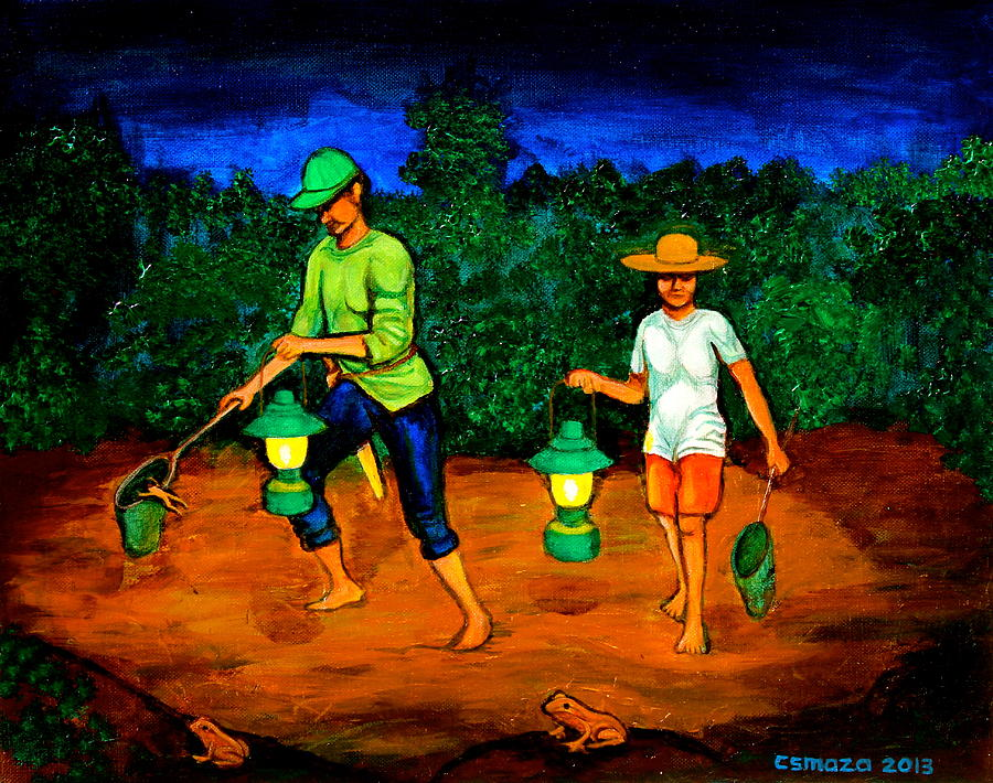 Frog Hunters Painting