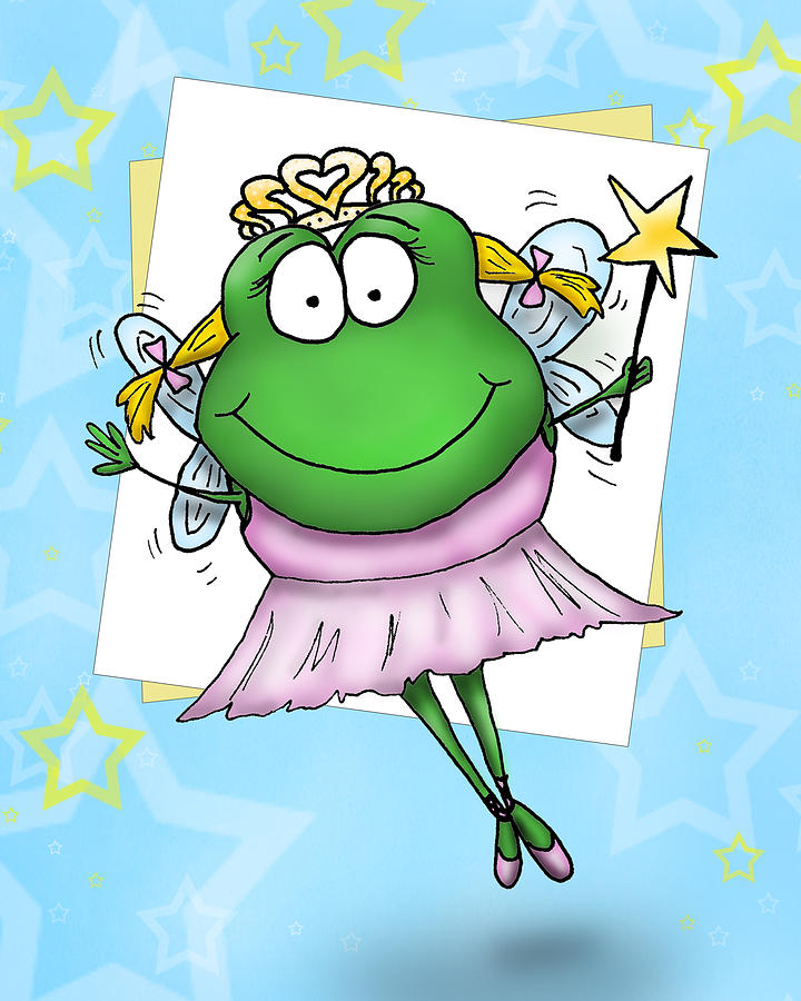 Frog Mixed Media - Froggy Fairy by Nicole Spencer