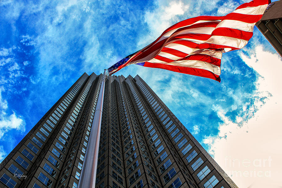 American Flag Photograph - From A Different Perspective II by Rene Triay Photography