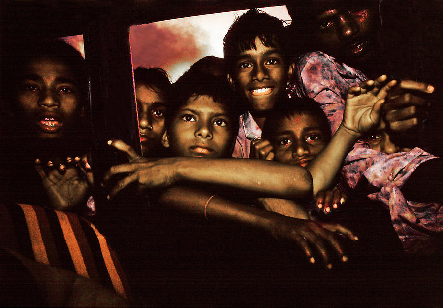 From a taxi view in India by Joe Connors