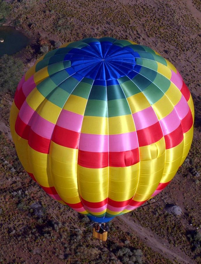 Hot Air Balloon Photograph - From Above by Mary Rogers