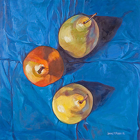 Still Life Painting - From Above-pears Sold by Jayne Rose