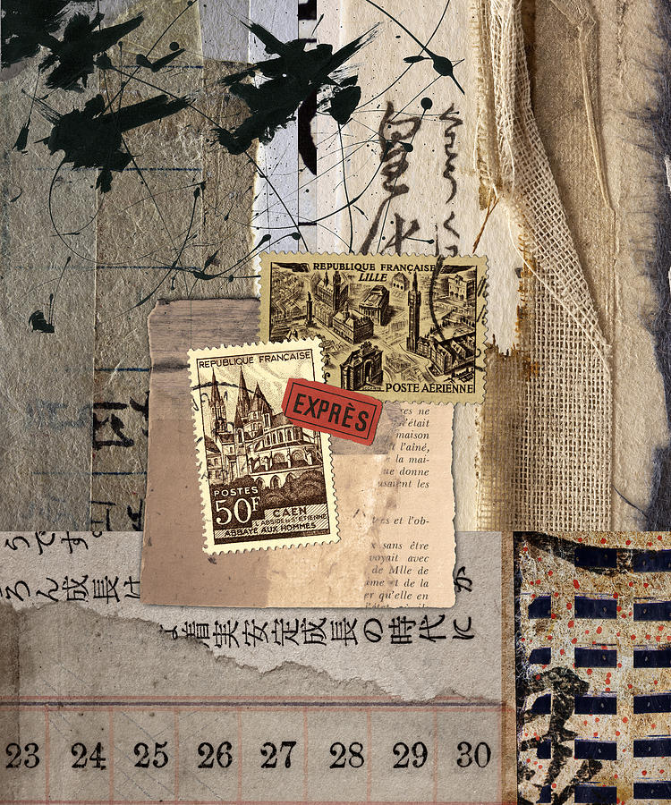 Collage Photograph - From Books by Carol Leigh