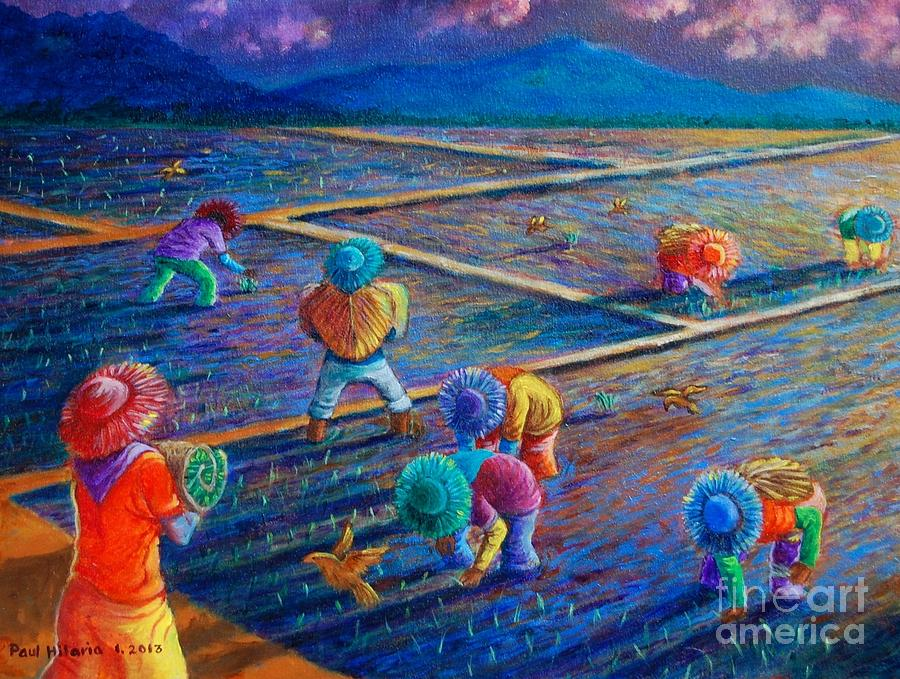 Rice Painting - From Dawn by Paul Hilario