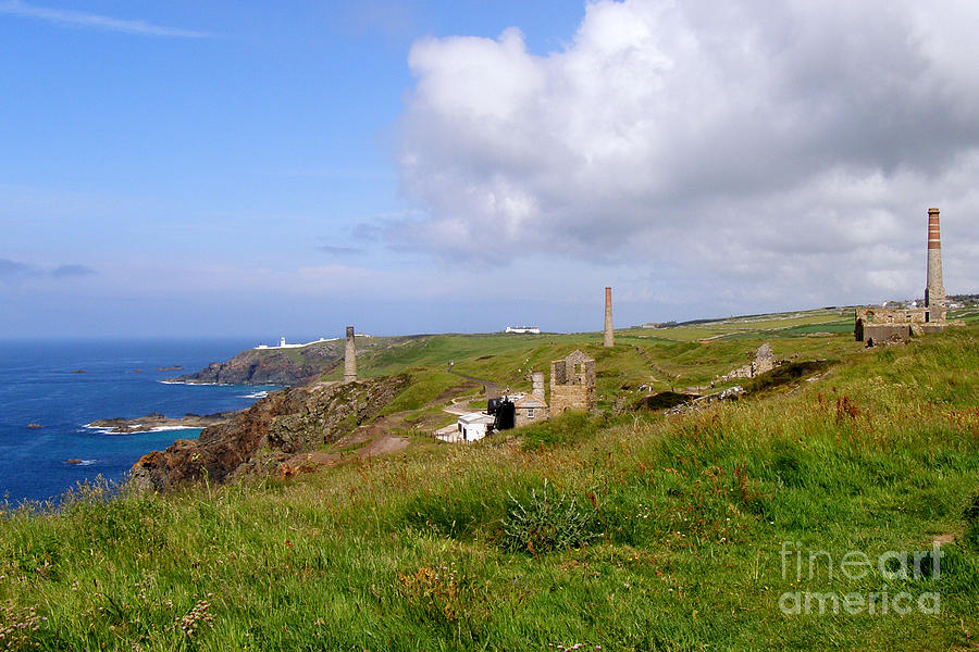 Levant Mine And Beam Engine Photograph - From Levant To Pendeen Cornwall by Terri Waters
