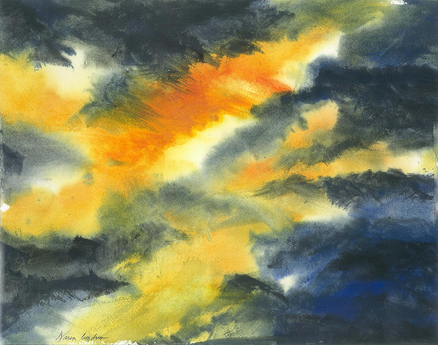 From Light Into Dark Painting by Karen  Condron