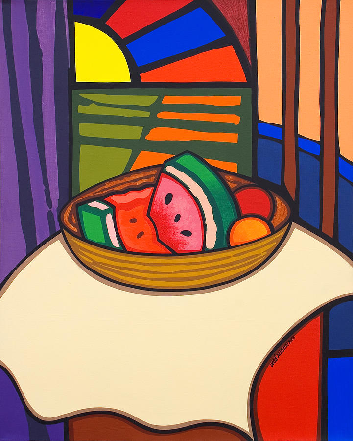 Fruit Painting - From Matisse Exquisitely Impeccable by Jose Miguel Perez Hernandez