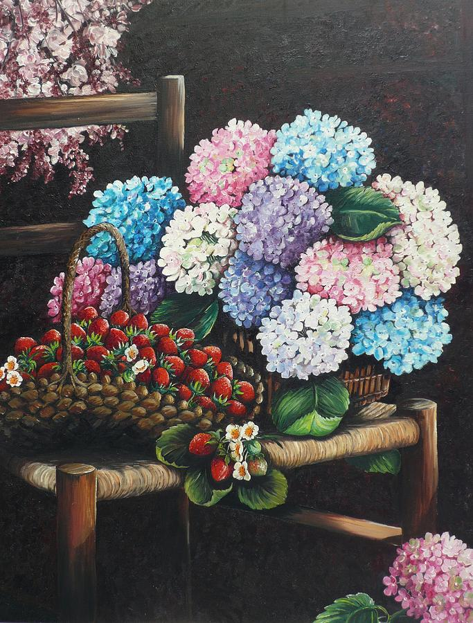 From My Garden Painting by Karin  Dawn Kelshall- Best