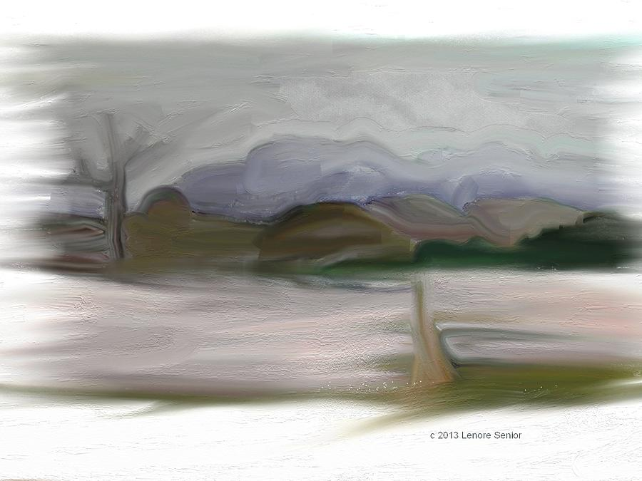 Expressive Painting - From My Window After Snow by Lenore Senior